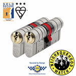 ERA Fortress 3 Star Euro Cylinder - Maximum Security - Keyed Alike Pairs
